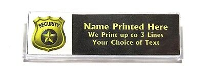 Security Badge Custom Name Tag Badge Id Pin Magnet For Guards Campus Office