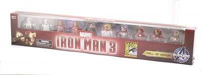 Marvel Minimates SDCC Exclusive Iron Man 3 Movie Hall of Armor Box Set