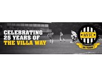 Montpelier Villa - u14 players wanted for next season.
