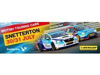 2x btcc british touring car tickets snetterton 31st july