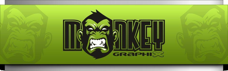 monkey-graphix Oldschool Aufkleber