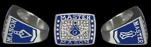 Mason Masonic PHA Prince Hall Master Mason Square and Compass Ring Size 12
