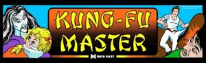 Kung Fu Master Arcade Marquee – 26″ x 8″