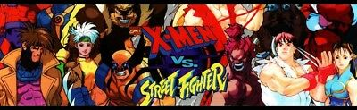 X-Men VS Street Fighter Arcade Marquee – 26″ x 8″ for sale  Atlanta