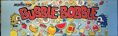 """Bubble Bobble """"B"""" Romstar Arcade Marquee – 26″ x 8″"""