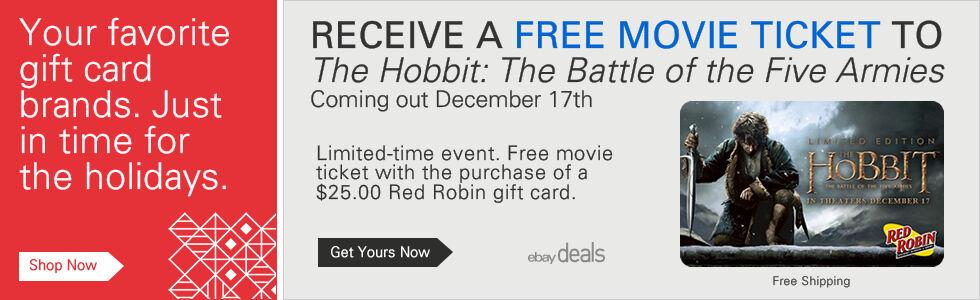 Red Robin Free Hobbit Movie Ticket