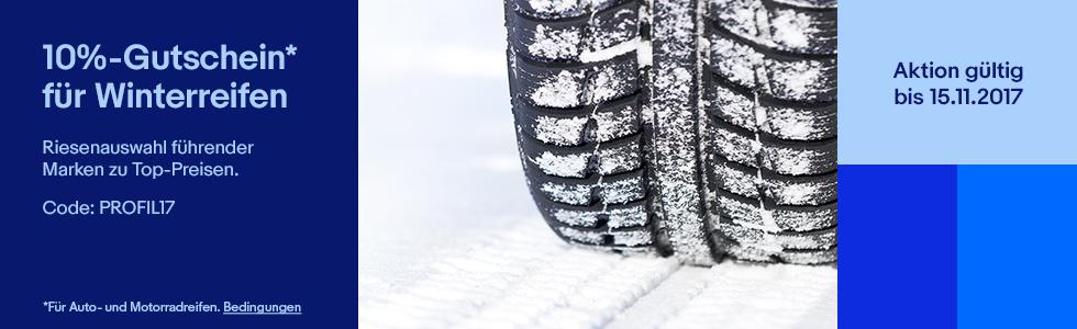 10 Prozent Rabatt auf Reifen