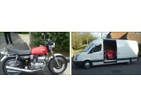 Ipswich & Suffolk based motorcycle/scooter transportation service...24/7 days a week...