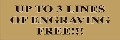Lot Of 3 Custom Gold Aluminum Plates - Sublimated - 1x3 - Free Lettering