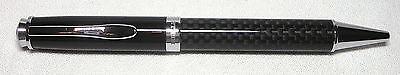 Libelle Carbon Fiber and Black Ballpoint Pen With Nice Leather Pen Case Libelle Black Pen