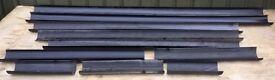 Quantity of 110mm Black Plastic Guttering