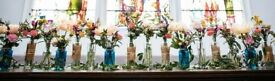 16 x glass vases (perfect for weddings)