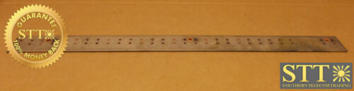 "Copper Bus Bar 3"" X 38"" 1/4"" Holes-centered Spacing 1-1/4"" Horiz 11/16"" Vertical"