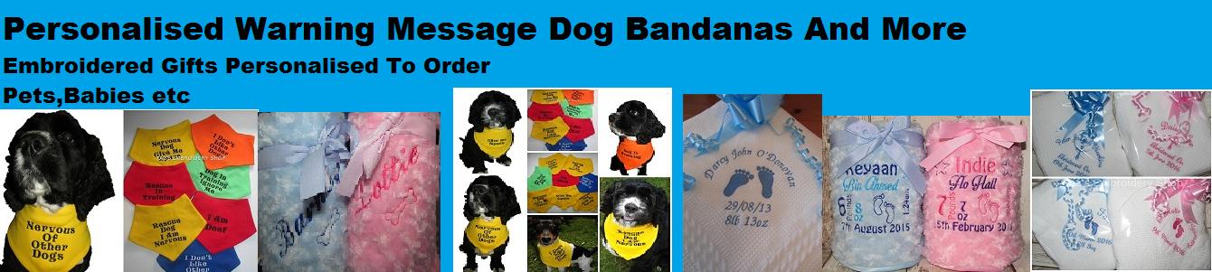 Personalised Message Dog Bandanas