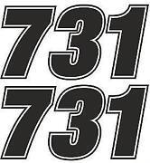 Motorbike Number Stickers