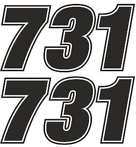 Race Numbers Motocross Edurance Car Motorbike Vinyl Sticker Graphic Decal
