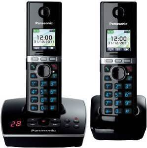 Panasonic KX-TG 8062 Twin Cordless Phone With Integrated Answering Machine New