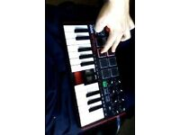 Akai MPK Mini midi keyboard (2 broken keys, could be repaired)