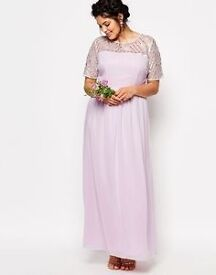 OPEN TO OFFERS! *MASSIVE CLEARANCE - EVERYTHING MUST GO* Gorgeous lilac maxi dress gown size 18