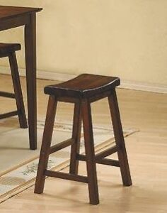 "24"" counter saddle stools, black or brown, from $59 each"