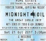 Midnight Oil tickets, 21st Oct Hunter Valley Summer Hill Ashfield Area Preview