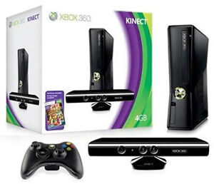 XBOX 360 with Connect and 2 controllers