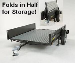 * LIFETIME Utility Trailer, Galvanized and Collapsable *