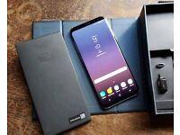 Samsung galaxy s8 plus g955f midnight black boxed unlocked mint condition
