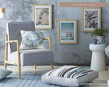Sold Out Aldi Fabric Accent Arm Chair- Tate Grey- New in Box