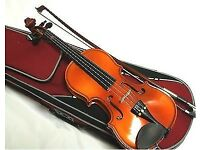 Stentor II quarter (1/4) size violin outfit complete with case and bow