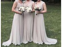 Bridesmaids dresses. Matching shoes.