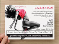 Want to tone up and improve fitness? Come to Cardio Jam Aerobics! 1st class free when you check in!