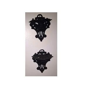 Cast Iron Wall Mount Cherub Angel Plant Stand / Shelf