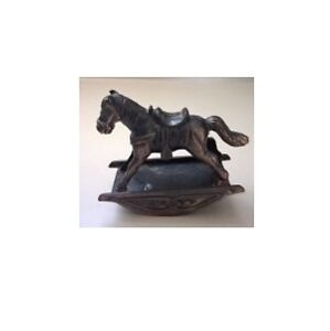 Vintage Die Cast Copper  Rocking Horse Pencil Sharpener