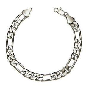 18k White Gold Bracelet Mens