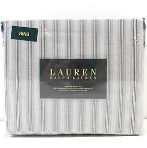 Ralph Lauren Striped King Sheets
