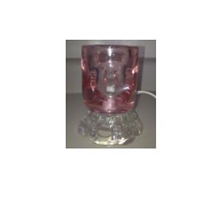Pink Glass Lamp with Dimmer
