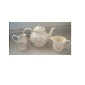 Skye McGhie Porcelain Cream 3 Piece Tea Set