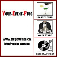 PROFESSIONAL EVENT STAFFING & RENTALS @ WWW.YEPEVENTS.CA