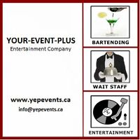 Y.E.P SERVICES - BARTENDERS / ENTERTAINMENT / RENTALS