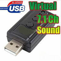 New USB Sound Card Virtual 7.1 Channel with Volume Mic Control