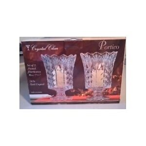 Fifth Avenue Crystal Clear Portico Footed Hurricanes Candle