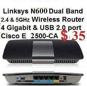 LINKSYS / Cisco EA2500 N600 NEW in Box Seal from Factory DUAL-BAND SMART WI-FI WIRELESS ROUTER