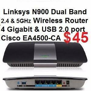 LINKSYS / Cisco EA4500 N900 NEW in Box Seal from Factory DUAL-BAND SMART WI-FI WIRELESS ROUTER