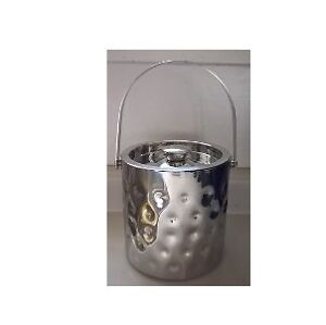 Elegance Bolt Hammered Stainless Steel Doublewall Ice Bucket
