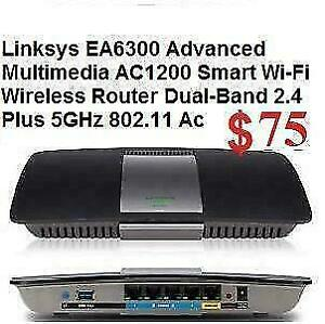 Linksys AC1200 EA6300 NEW in Box Seal from Factory  Advanced Multimedia Smart Wi-Fi Wireless Router (Dual-Band 2.4