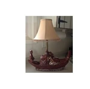 True Vintage Gondola Row Boat Lamp