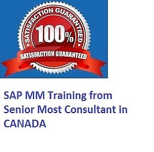 SAP MM Supply Chain Man. REAL TIME Canadian Project Training