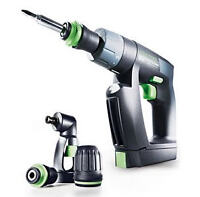 Festool CXS Compact Drill Driver Set with Right Angle Chuck