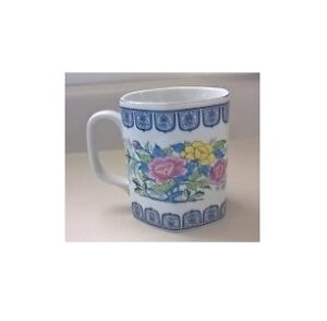 Japanese Porcelain Mug with Flowers
